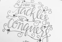 Hand Lettering Ideas