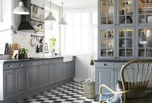 modern colour for old kitchen