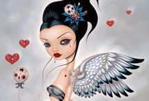 Lowbrow / I adore the lowbrow movement. Check out these fantastic artists and ping me if you know of any others! / by Tami Gomez