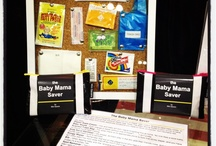 """The Baby Mama Saver / CONTENTS:  For Baby:  Diaper Rash Cream – You and baby will both regret forgetting this at home. No one likes a sore tushy.  Baby Wipes – Ever change a diaper without one of these? . . . it isn't pretty.  Scented Trash Bag – For when there is no appropriate place to toss that stinky diaper, and you have no choice but to take it along.  Kids Hand Sanitizer – Go ahead, let them play in the dirt, pick their friends nose, and suck on their thumb; just make sure to sanitize!  Boogy Wipes – Remember that kid on the playground who had a huge slimy booger resting on his top lip? (Why didn't his mom wipe that off for him?) Don't let your baby be the booger buddy.  Bib – When feeding baby with the """"airplane technique"""" (we all know it), a bib can come in handy, just in case it's a bumpy ride.  Spot Remover – The time will come when you'll show up to a special occasion to find a fresh spit-up stain right on baby's clean, pressed shirt (or yours). Worry no more with this on-the-go stain remover!  Sunscreen – Once upon a time, tan skin was all that mattered. Now you are paying for those sunscreen-less hours in the sun, with wrinkles, and sunspots, and chemical peels, oh my! Here's your second chance: live vicariously through your baby, protecting their flawless skin from those risky rays that have done you wrong!  Antibiotic Ointment – We all know that kissing it makes it better, but a little antibiotic ointment might help too.  Bandage – Bandage that boo boo to keep the cries in and the germs out!  For Mama:  Lip Balm – You probably can't resist kissing those soft cheeks. Whether they are on baby's face or tush, make sure your lips don't scratch that baby smooth skin.  Hair Tie – To keep your locks out of baby's food, face, and dirty diaper. / by Mini Savers"""
