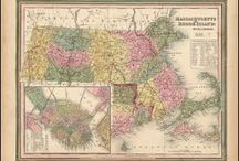 Massachusetts Antique Maps / Antique maps of Massachusetts show the dramatic changes in the states geographical and political situation over time. Vintage maps of Massachusetts often show the growth of railroads, counties and cities in The State of Massachusetts. Old maps of Massachusetts, including antique maps of Boston, Cape Cod and Nantucket can be found here.