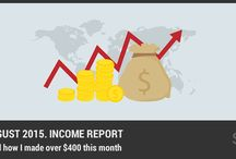 Income Reports / Pins from people who make money with their blogs. For inspiration, if we can do it, you can probably do it to.