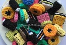 crochet sweets  liquerice