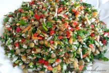 Yeşile çimeler salatası