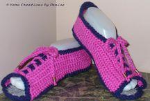 Crochet Open Toe Felted Slippers