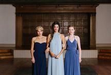 Shades of blue bridesmaids