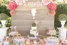 Pink and gold theme party