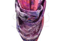 Big scarf / Silk scarf, size 140x140 cm