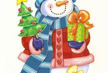 Karácsony, hóember