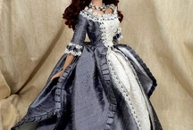 doll with vintage dress