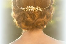 Here comes the bride. / Bridal hair and make up