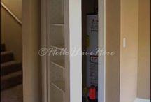 Hidden bookcase door cupboard