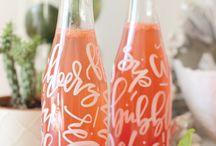 typography  cocktails