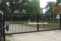 Black Driveway Gates with automation opener / Our rust free, heavy duty driveway gates are operator friendly.