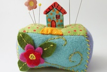Crafting with Felt/fibres and embroidery, beads, buttons, and sequins... / by Rita Sundin