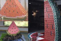 Canstruction Collages / Collages of various Canstruction Cansculptures