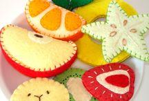 Felted fruits