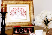 Thumbprint Trees / Thumbprint Tree guestbooks are really cool and fun. After the wedding or shower they make a great piece of art. Please check out these thumbprint trees by Arcadia Artistry. :)