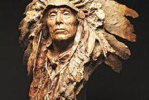Portrait sculptures ---  portrék a térben / portrait sculptures
