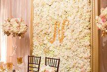 ściana z kwiatów tło