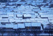 HIGASHIYAMA Kaii(東山魁夷, 1908-1999) / Japanese artist, born in Yokohama.