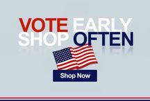Vote Early, Shop Often / In case you didn't know it, this is an election year... All kidding aside, we encourage you to cast your vote this year. Then visit Urbangeneralstore.com. We add new items as often as some politicians change their positions–DAILY. We have some fun election-themed gift items that will make you the winner of any party!