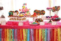 Willy Wonka Candyland Party Theme / In November, we are providing event decoration for The Great North Air Ambulance Fundraiser Ball in Cumbria. This mood board offers some of the ideas used to inspire and theme our decorations! From party food ideas and balloon arrangements through to table decorations in colour schemes designed to fit the theme! Choose the perfect items from our hire catalogue to give your event some wow factor! http://bit.ly/YB04GA