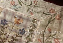 Floral bouquet quilt