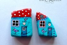 Teal houses