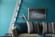 bedroom - blue-brown-gold