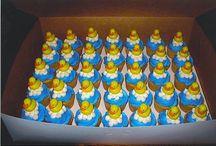 baby shower cupcakes met eendjies