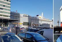 Aankomst/vertrek cruiseschepen Rotterdam