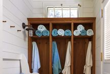 Pool house changing room