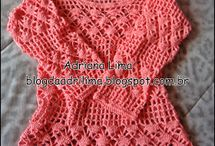 Blusa crochê linha bela