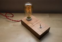 handcrafted wooden table lamp