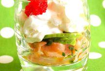 verrine saumon frais