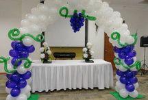 decoracion con globos primera comunion