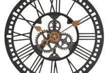 """IT'S TRENDING! Oversized Wall Clocks / When it comes to Oversized Wall Clocks, bigger is always better! We've gathered a few of our own oversized wall clocks, along with a few decorating ideas! An oversize clock has the ability to be the centerpiece of any room, without a whole lot of effort required! All of the clocks listed here are 20"""" in diameter or larger!"""