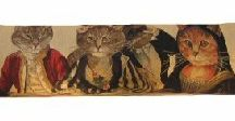 Cat Design Draught Excluders / A lovely selection of draught excluders with cats and kittens on them. The ideal and unique gift for all cat lovers!