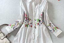 Camisa Bordada /  Mangas compridas Tecido: 100% algodão Bordados: Frente, Costas e Mangas Tecido Suave Estilo Romântico Bordados Requintados