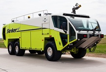 Oshkosh Striker 6x6 / Wrapped in a sleek and aero fiberglass body, the new Striker is offered with a wide range of industry leading innovations. Airport fire chiefs and firefighters from around the globe assisted in developing this technically advanced ARFF vehicle.