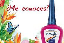 ESMALTES MASGLO / Carta de colores de los esmaltes Masglo