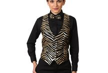 Animal Print Vests for Women / Animal prints can make you feel sexy and confident seems to never go out of style.  Six Star Uniforms has many animal print you can dream of including: leopard print,  zebra stripes, jaguar print, snake skin prints and much much more!