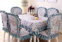Чехлы на стулья, скатерти