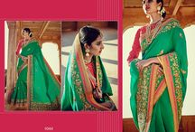 Latest Festive Designer Half and Half Wedding Sarees Collection.