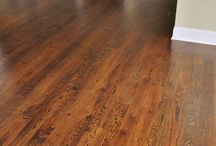 Red oak stains 1.  Dark Walnut