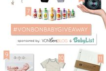 #VonbonBabyGiveaway / Must have baby items! / by Kristen