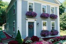 Fachada de Casa com Flores