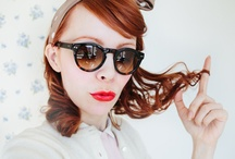 Jessica Silversaga / Swedish photographer and blogger Jessica Silversaga wears the Black Eyewear 'Coltrane' and 'Wes' in some of her vintage style inspired self portraits.