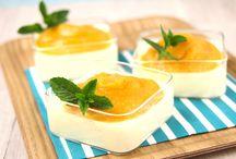 Panna cotta aux pommes / Découvrez de nombreuses #recettes de panna cotta aux pommes pour des #desserts légers et fins !